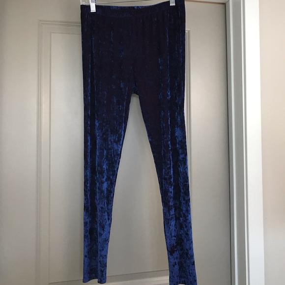 2697460df6202 Lbisse Pants | Blue Velvet Leggings | Poshmark